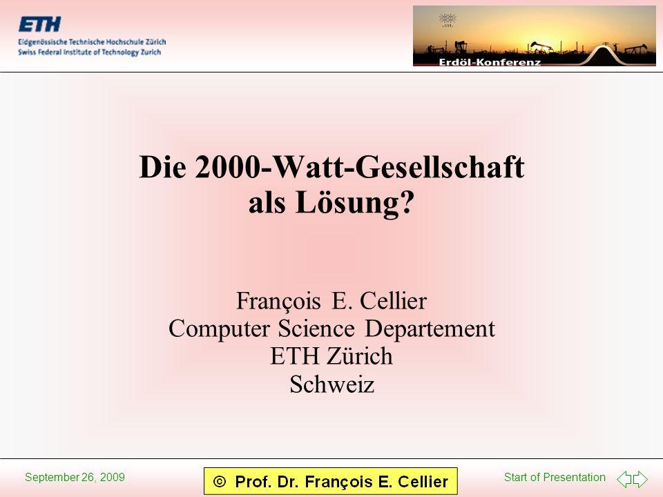 Die 2000-Watt-Gesellschaft als Lösung