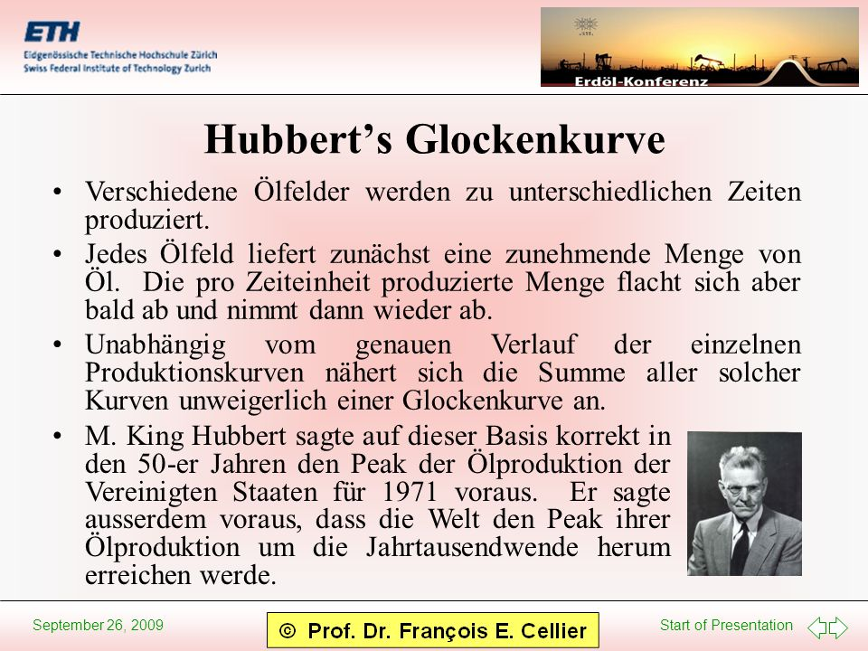 Hubbert's Glockenkurve