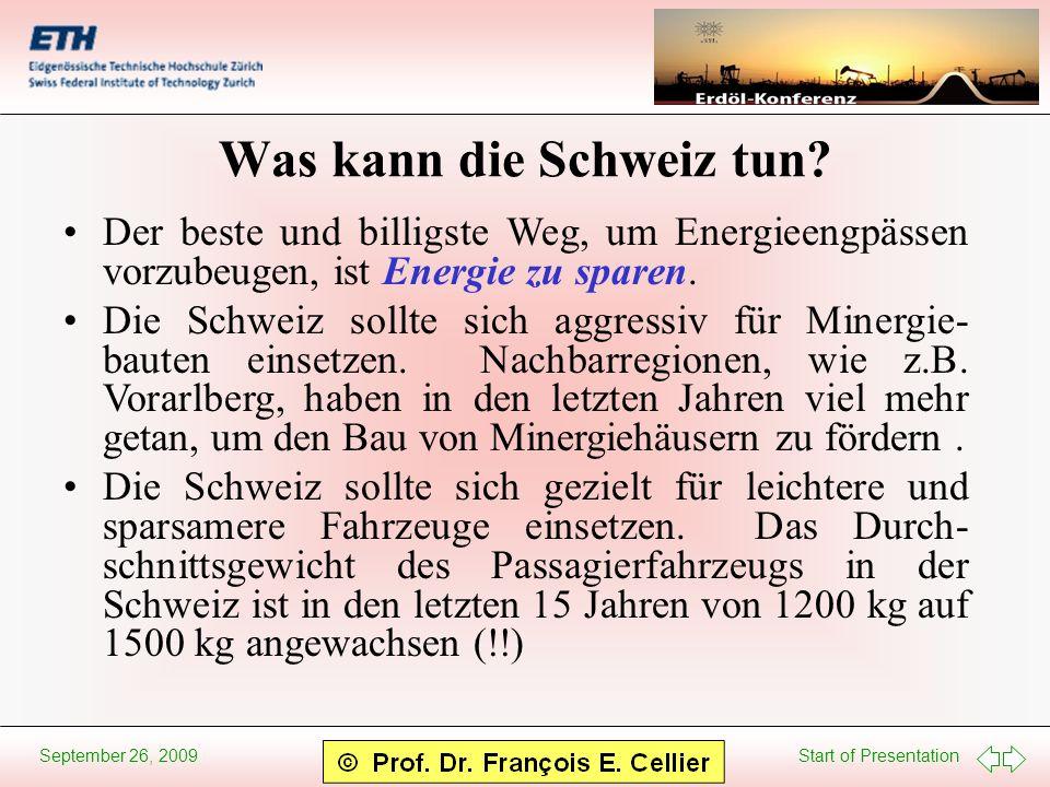 Was kann die Schweiz tun