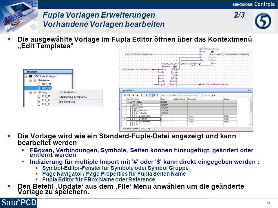 Fupla Vorlagen Erweiterungen 2/3 Vorhandene Vorlagen bearbeiten