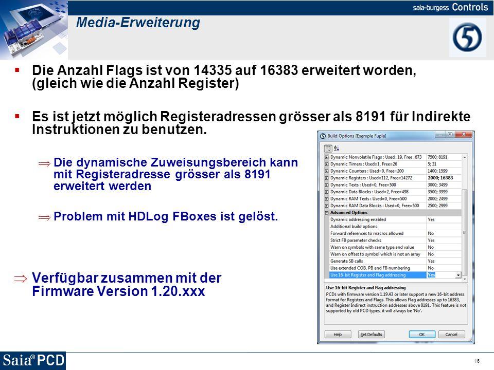 Verfügbar zusammen mit der Firmware Version 1.20.xxx