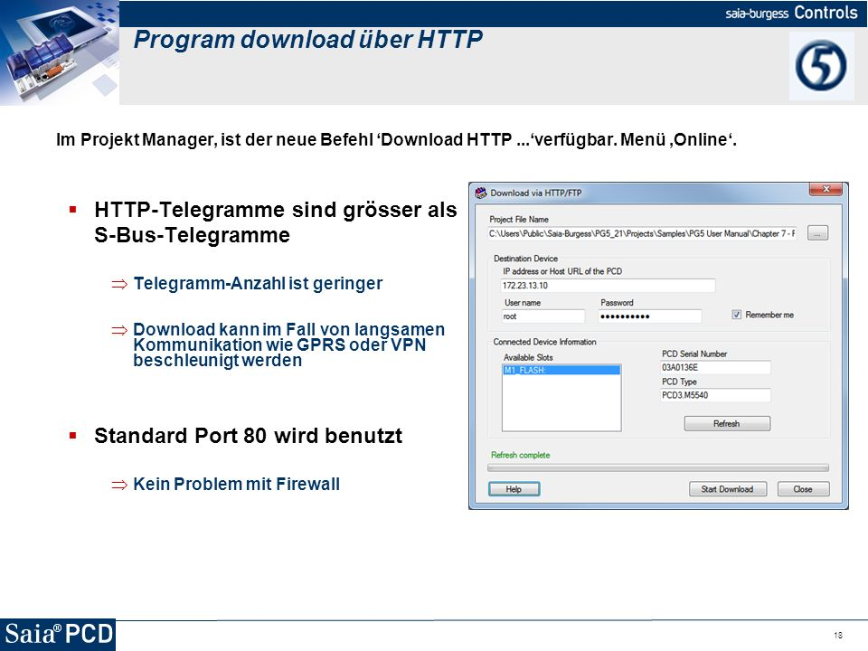 Program download über HTTP