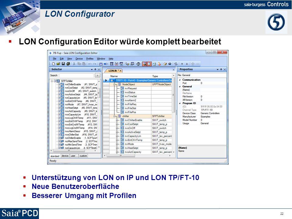 LON Configuration Editor würde komplett bearbeitet
