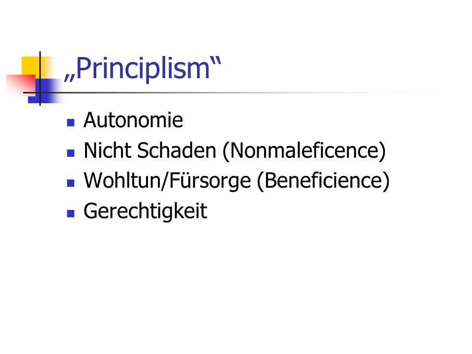 """""""Principlism Autonomie Nicht Schaden (Nonmaleficence)"""