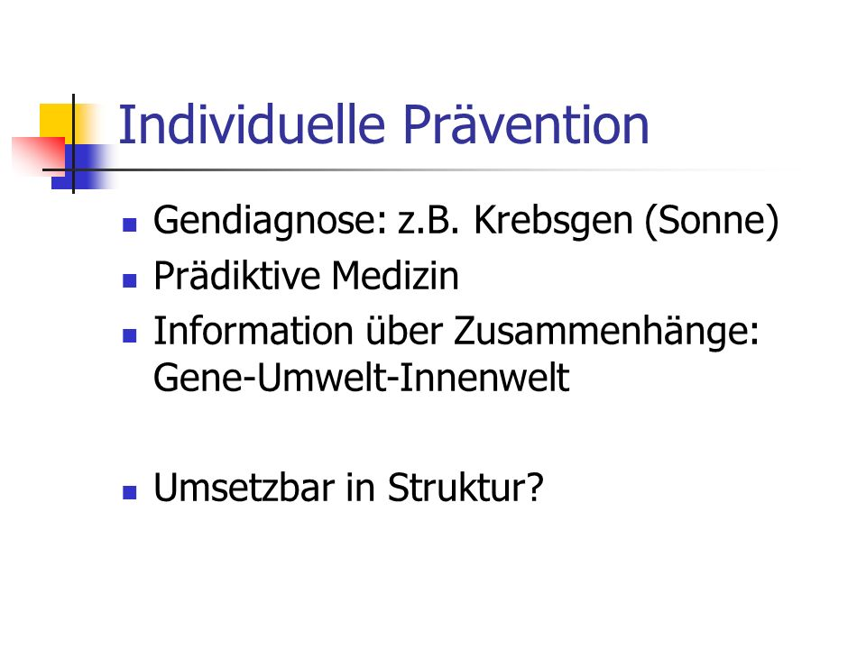 Individuelle Prävention