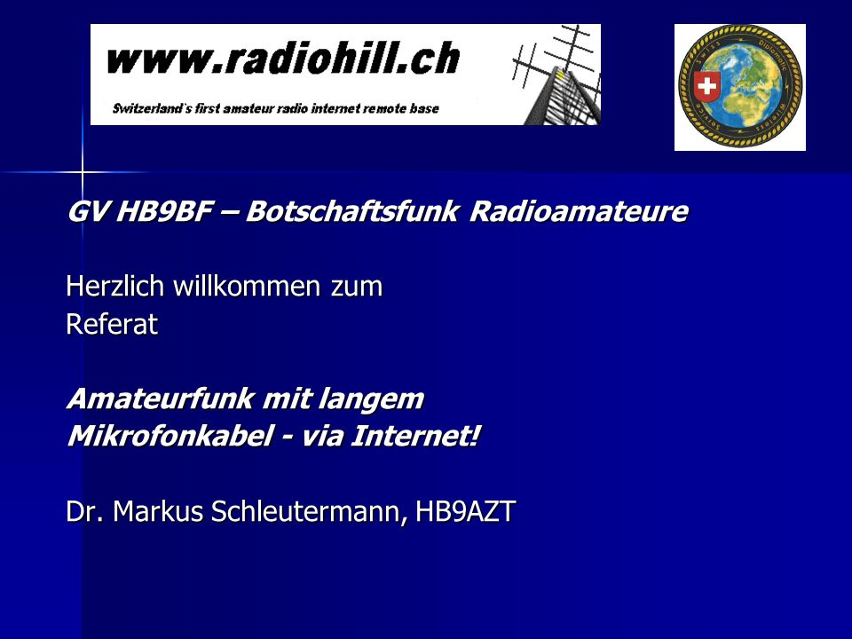 GV HB9BF – Botschaftsfunk Radioamateure