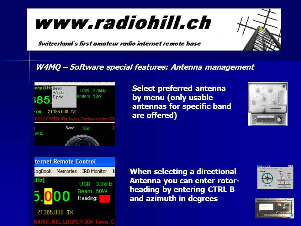 W4MQ – Software special features: Antenna management