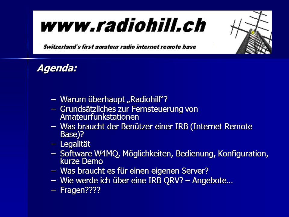 """Agenda: Warum überhaupt """"Radiohill"""