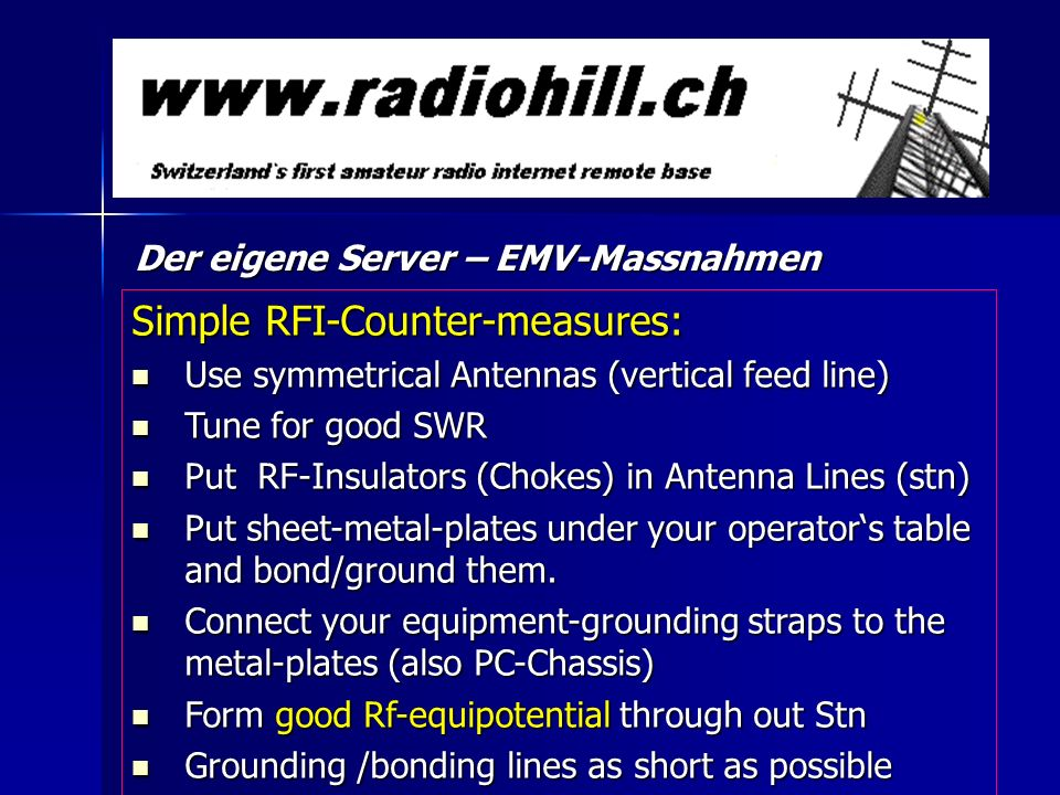 Simple RFI-Counter-measures:
