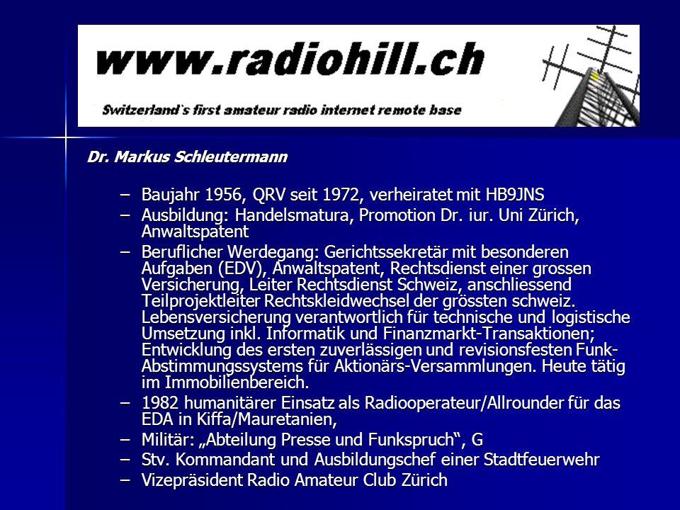 Baujahr 1956, QRV seit 1972, verheiratet mit HB9JNS