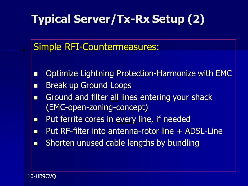 Typical Server/Tx-Rx Setup (2)