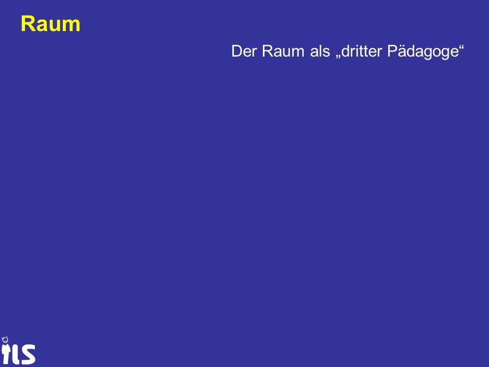 """Raum Der Raum als """"dritter Pädagoge"""