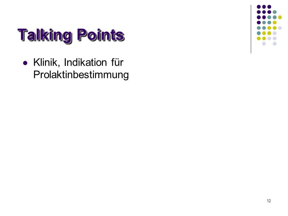 28/03/2017 Talking Points Klinik, Indikation für Prolaktinbestimmung