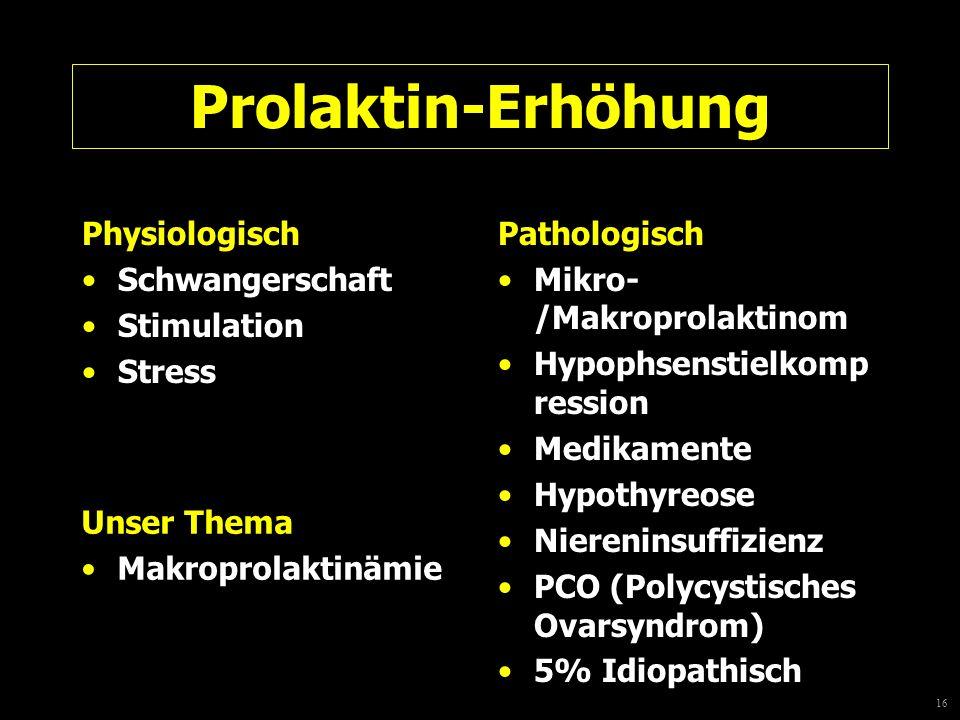 Prolaktin-Erhöhung Physiologisch Schwangerschaft Stimulation Stress