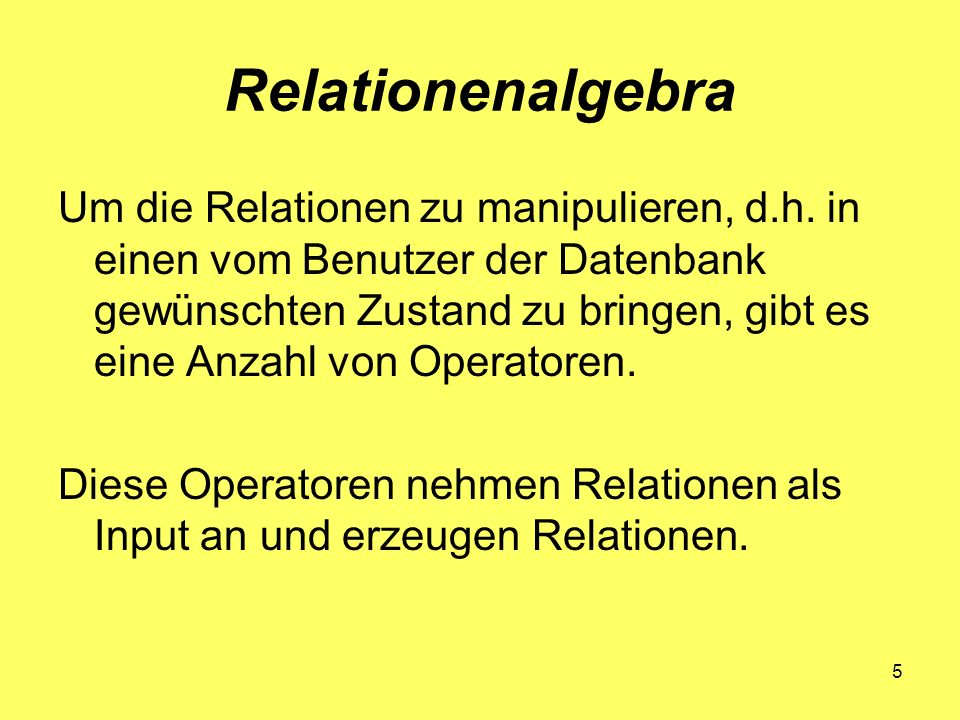 Relationenalgebra