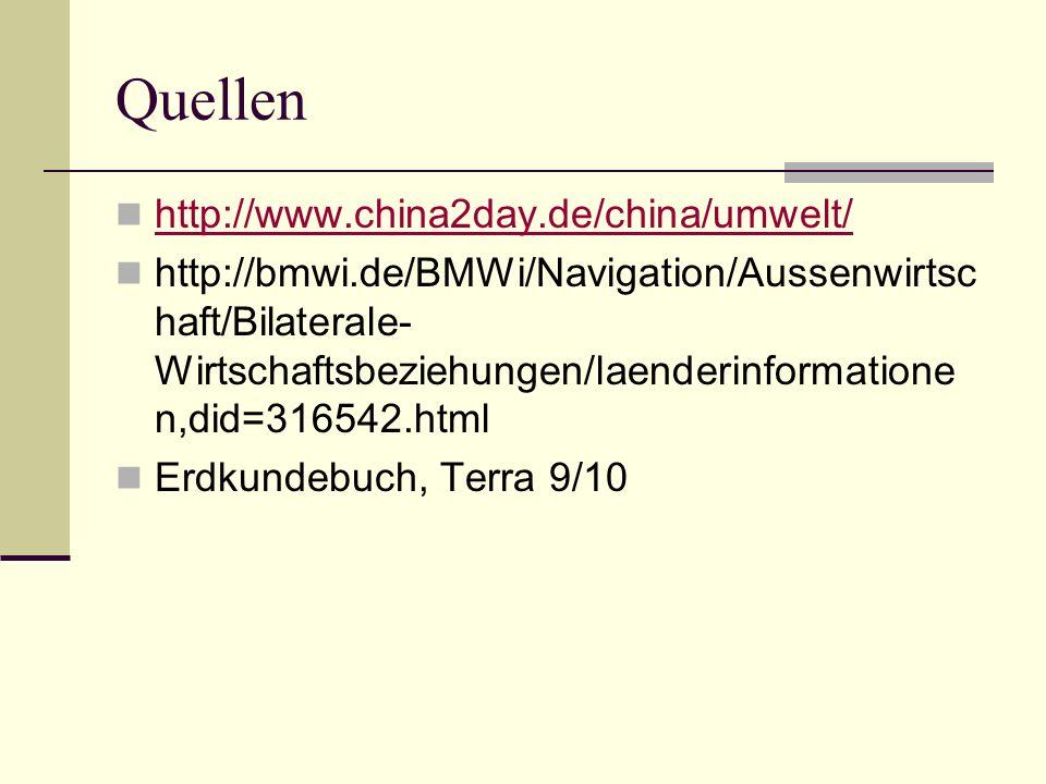 Quellen http://www.china2day.de/china/umwelt/