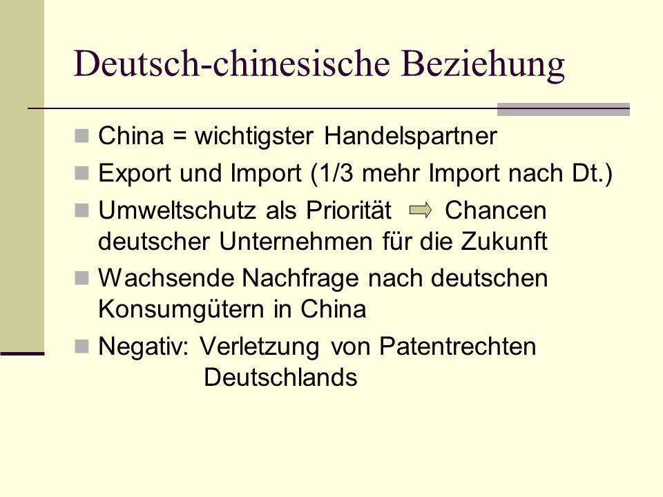 Deutsch-chinesische Beziehung