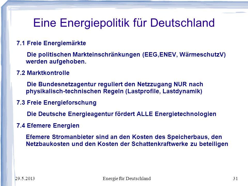 Eine Energiepolitik für Deutschland