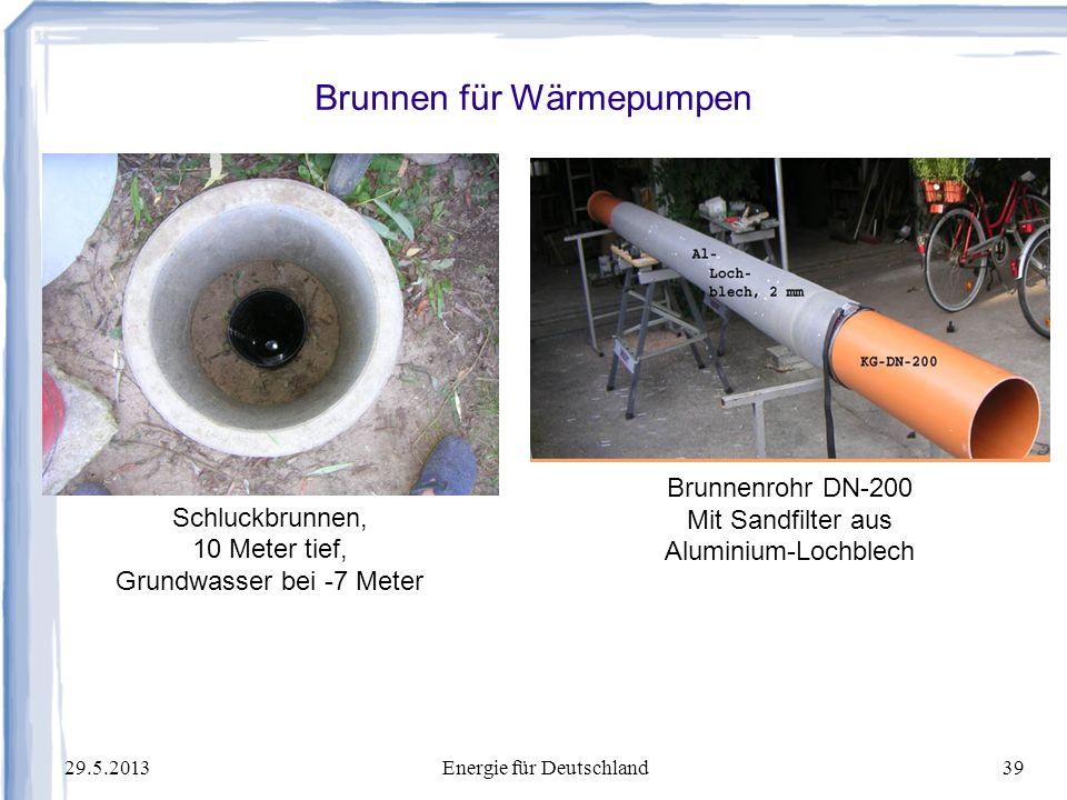 Brunnen für Wärmepumpen