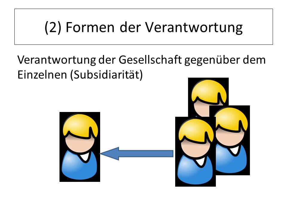(2) Formen der Verantwortung