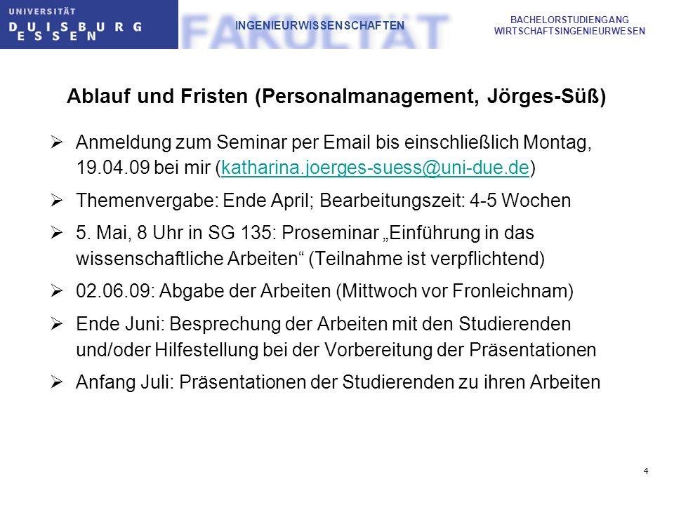 Ablauf und Fristen (Personalmanagement, Jörges-Süß)