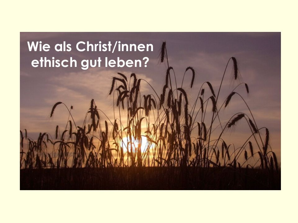 Wie als Christ/innen ethisch gut leben