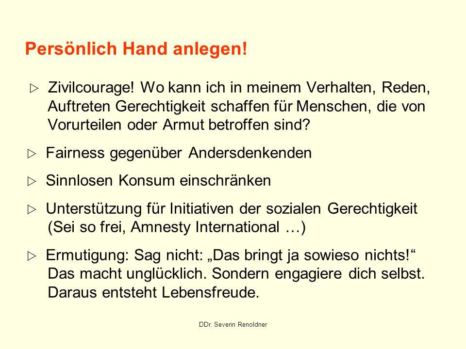 Persönlich Hand anlegen.  Zivilcourage