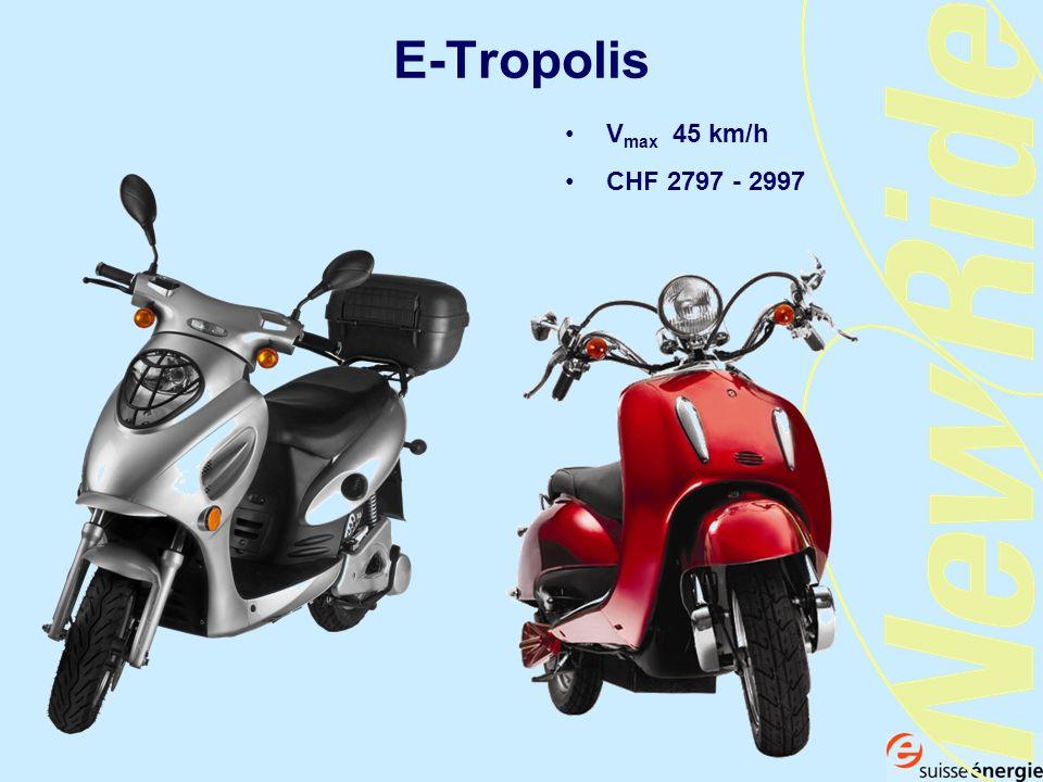 E-Tropolis Vmax 45 km/h CHF 2797 - 2997