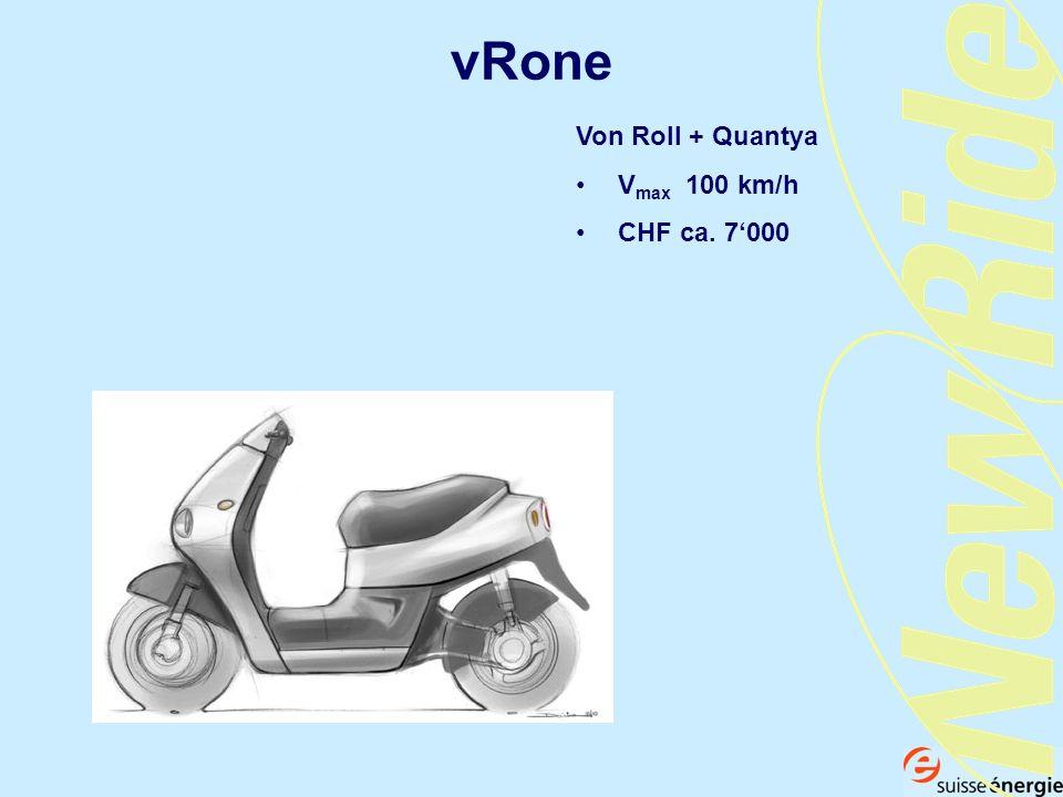 vRone Von Roll + Quantya Vmax 100 km/h CHF ca. 7'000