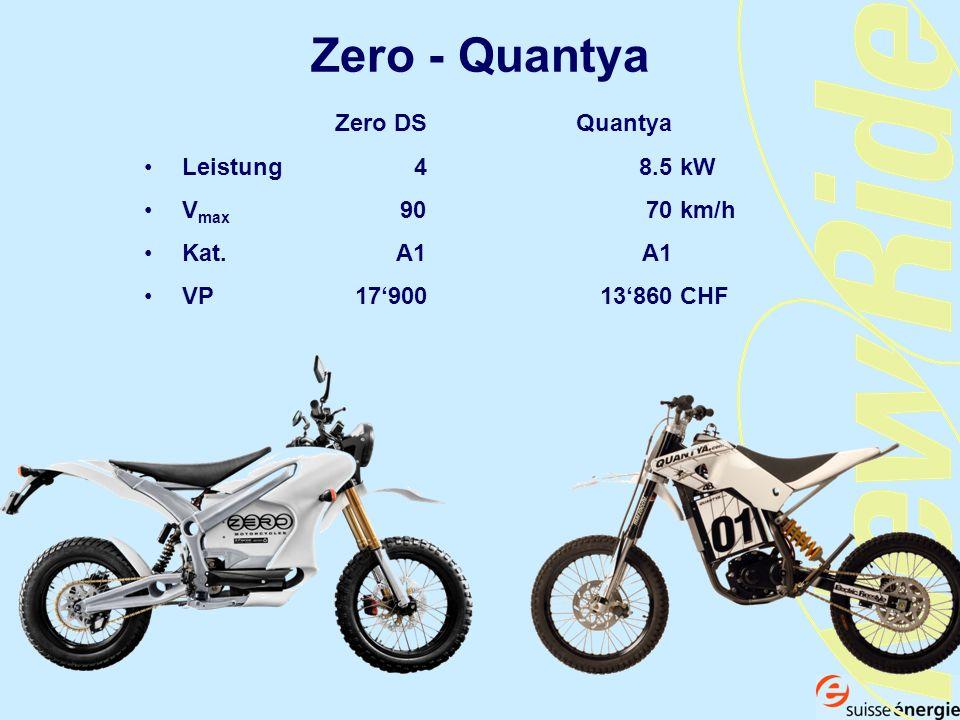 Zero - Quantya Zero DS Quantya Leistung 4 8.5 kW Vmax 90 70 km/h