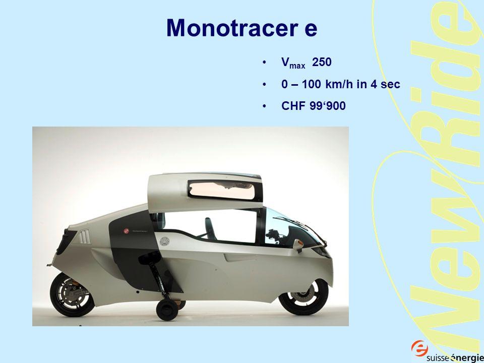 Monotracer e Vmax 250 0 – 100 km/h in 4 sec CHF 99'900