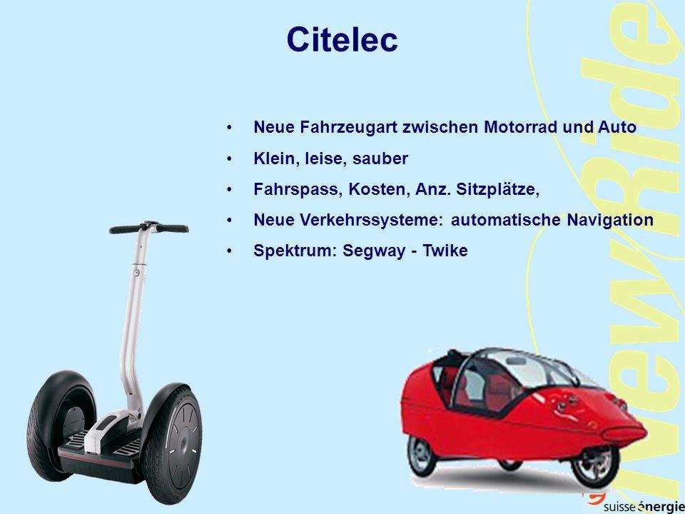 Citelec Neue Fahrzeugart zwischen Motorrad und Auto