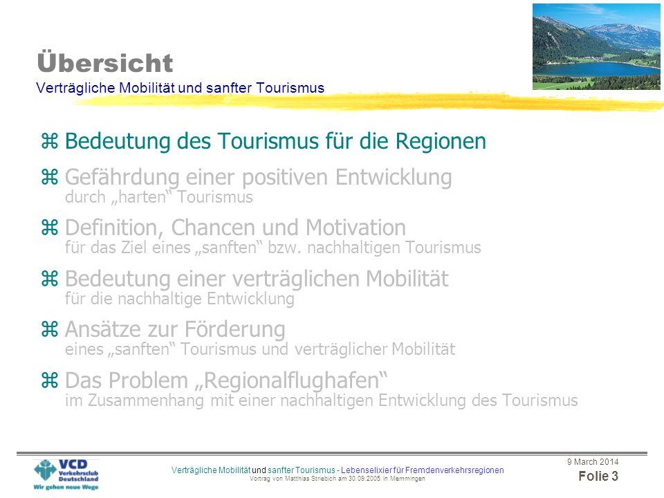 Übersicht Verträgliche Mobilität und sanfter Tourismus