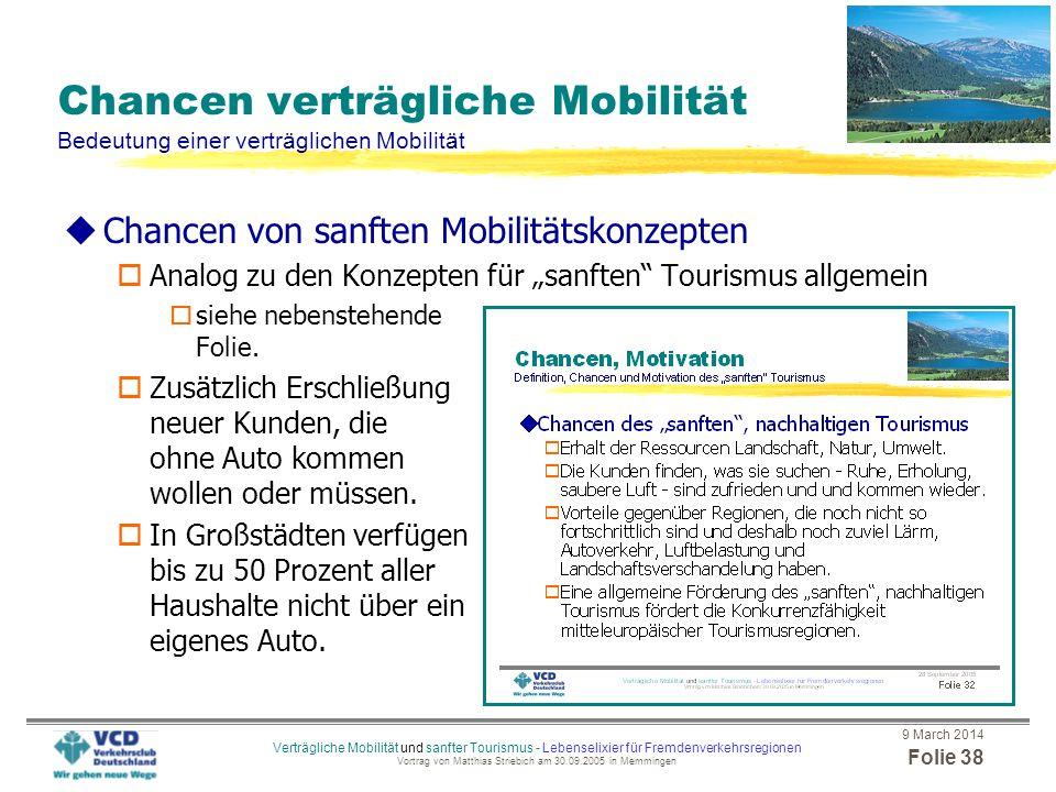 Chancen verträgliche Mobilität Bedeutung einer verträglichen Mobilität