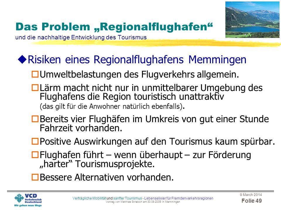 Risiken eines Regionalflughafens Memmingen