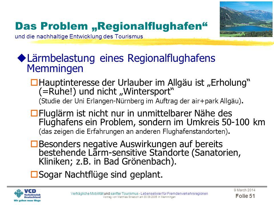 Lärmbelastung eines Regionalflughafens Memmingen