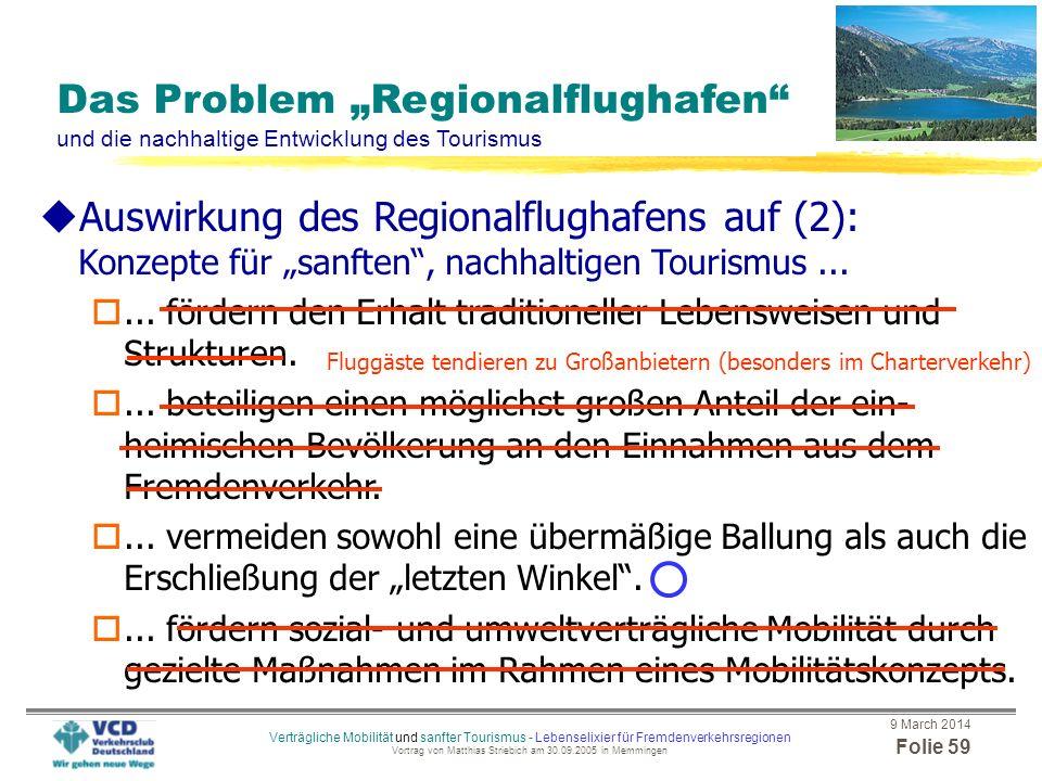 """Konzepte für """"sanften , nachhaltigen Tourismus ..."""
