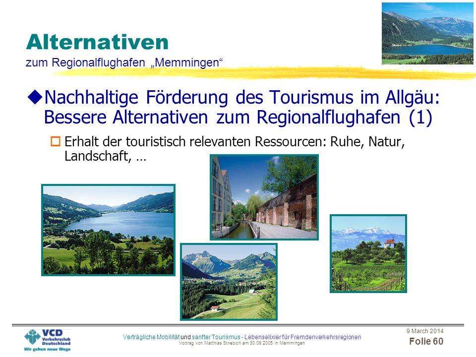 """Alternativen zum Regionalflughafen """"Memmingen"""