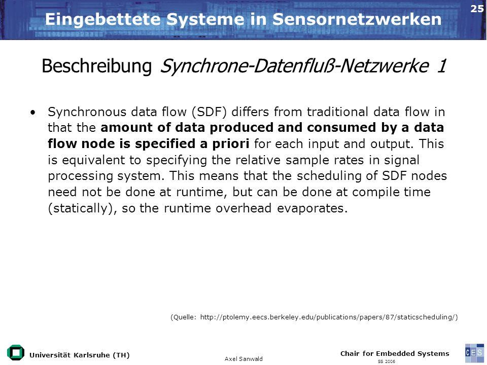 Beschreibung Synchrone-Datenfluß-Netzwerke 1