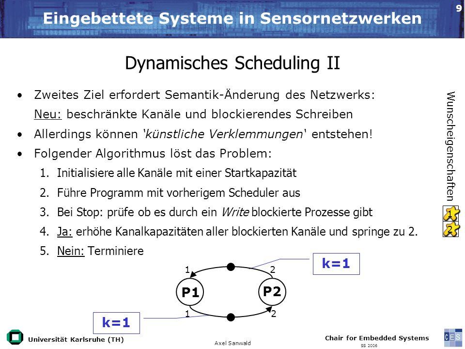 Dynamisches Scheduling II