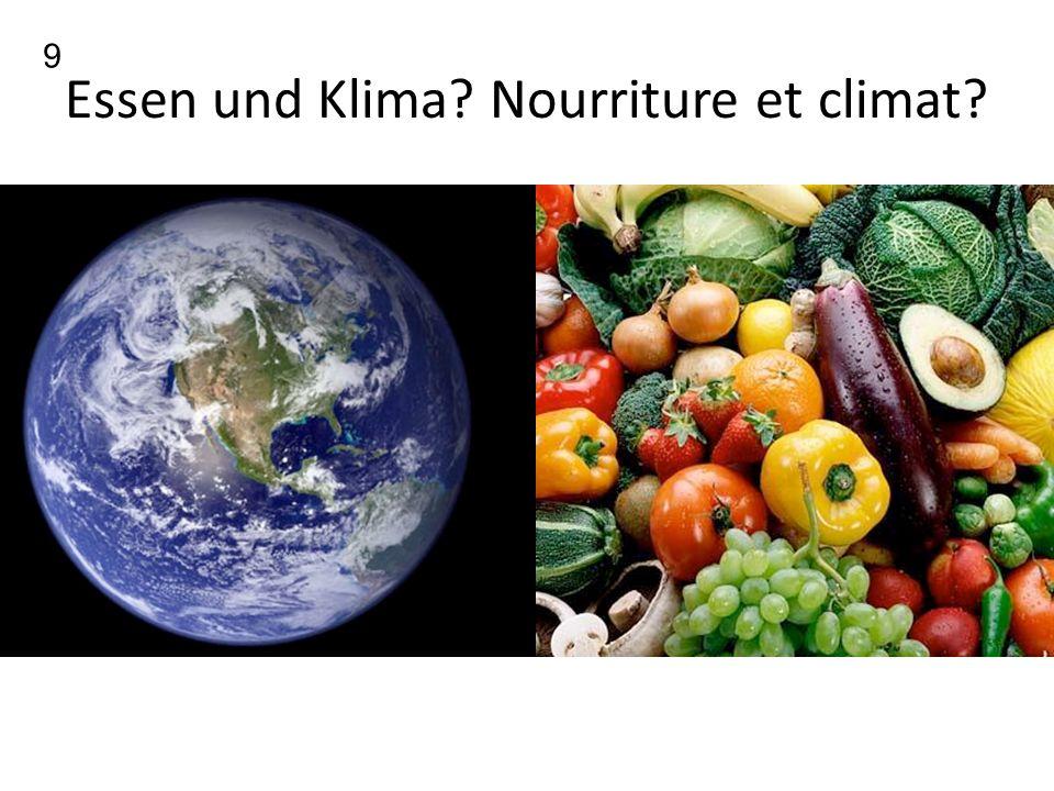 Essen und Klima Nourriture et climat