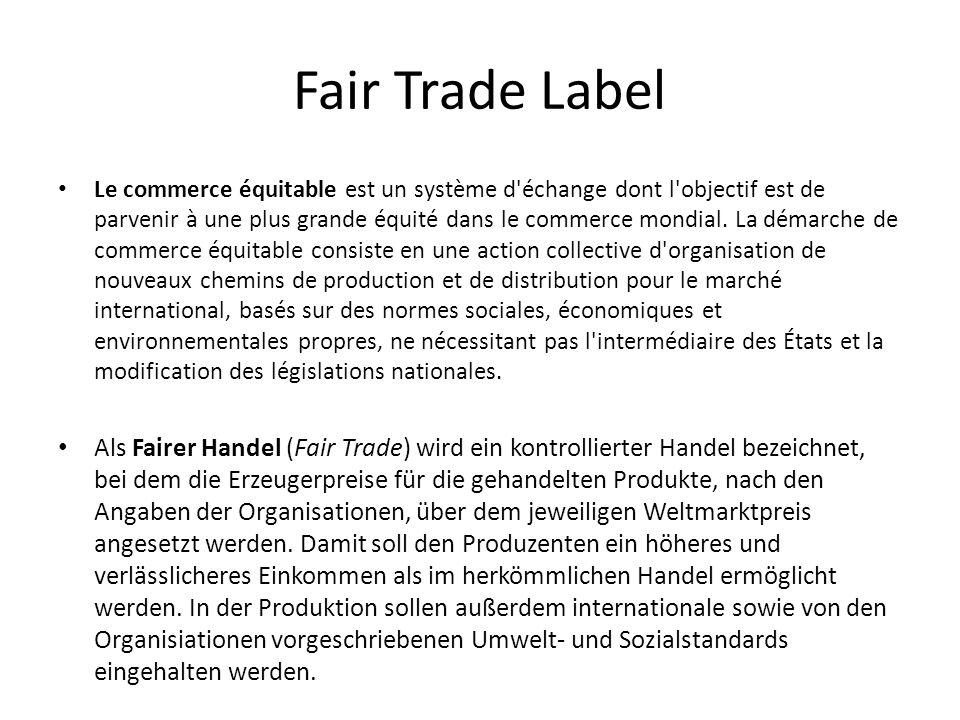 Fair Trade Label