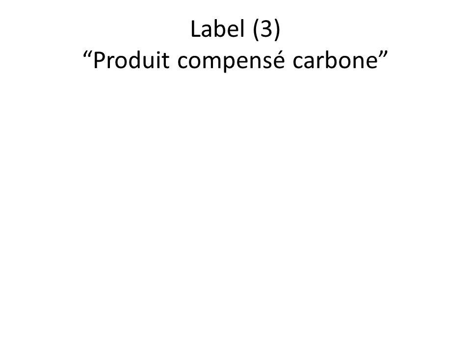 Label (3) Produit compensé carbone