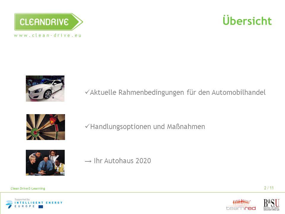 Übersicht Aktuelle Rahmenbedingungen für den Automobilhandel