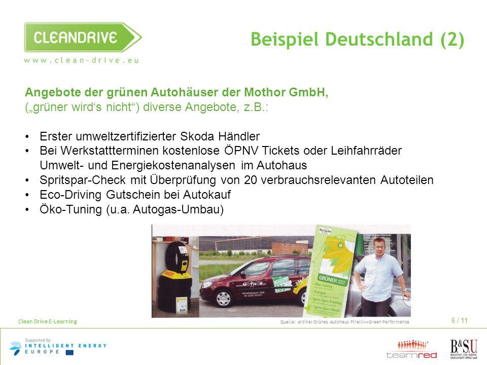 Beispiel Deutschland (2)