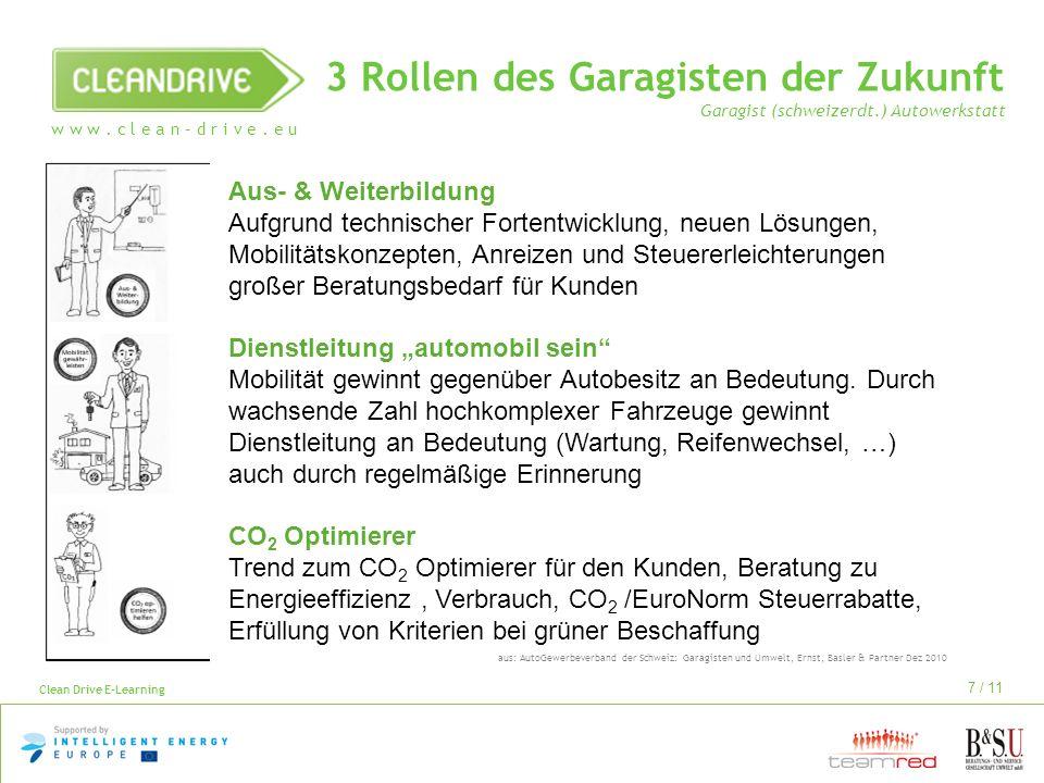 3 Rollen des Garagisten der Zukunft Garagist (schweizerdt
