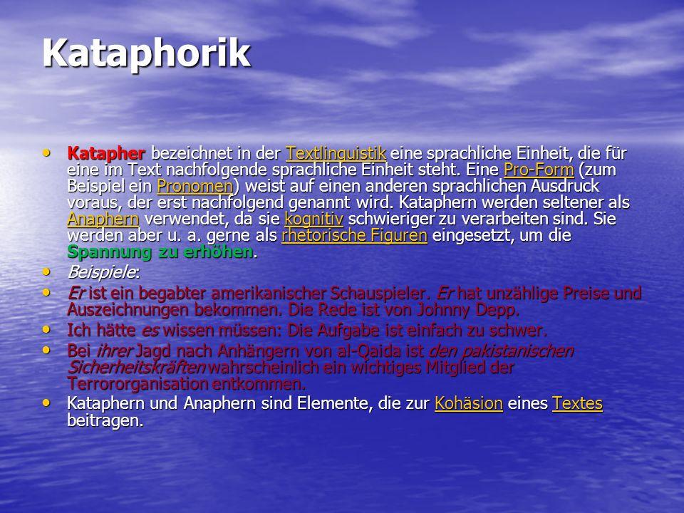 Kataphorik