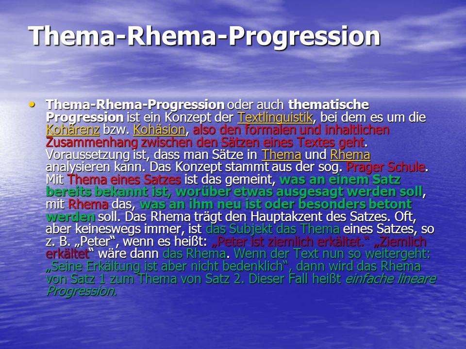 Thema-Rhema-Progression