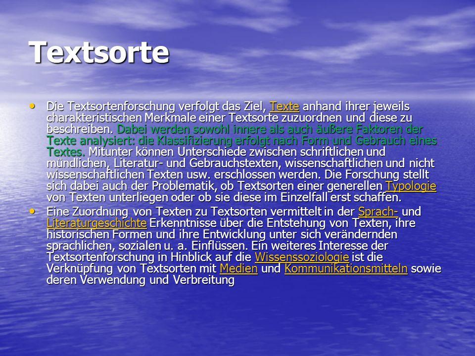 Textsorte
