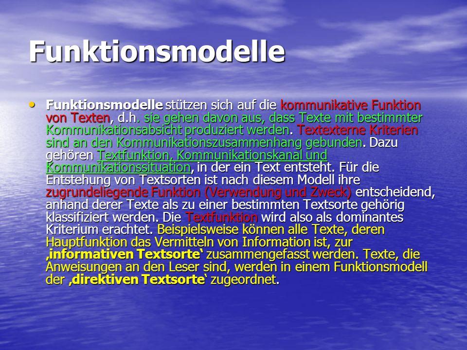 Funktionsmodelle